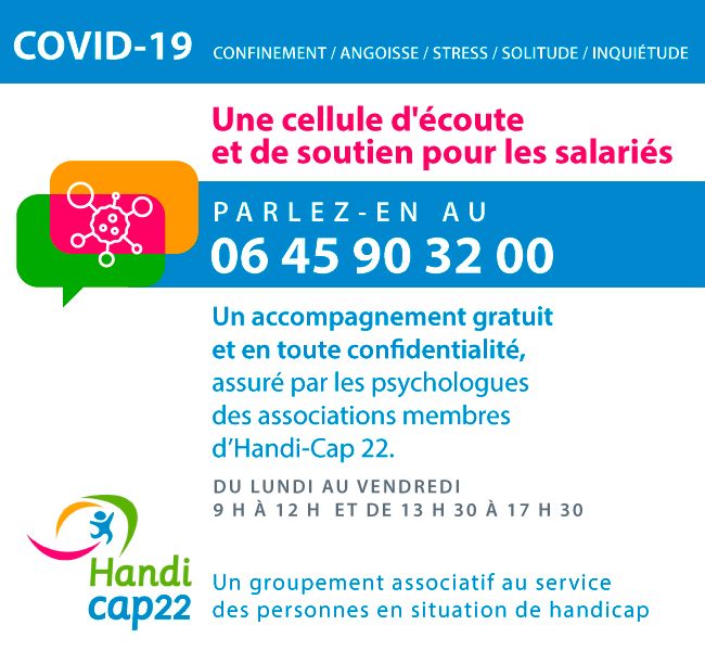 Covid-19 : une cellule d'écoute et de soutien pour les salariés